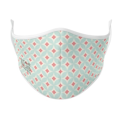 Boutique Sky Pink Circles Face Mask