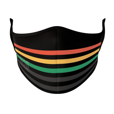 Black, Red, Yellow, Green & Grey Face Mask