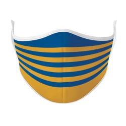 Blue & Gold Rugby Face Mask