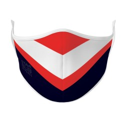 White, Red & Navy Rugby Face Mask