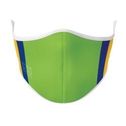 White, Green, Blue & Yellow Mask