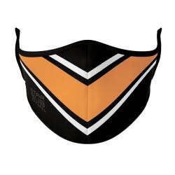Black, White & Orange Mask