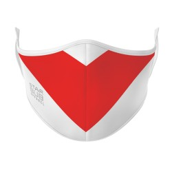 White & Red Mask