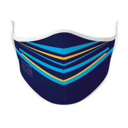 Navy, Blue & Gold Mask