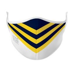Navy, Yellow & White Mask