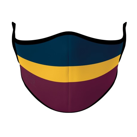 Navy Gold Maroon Face Mask
