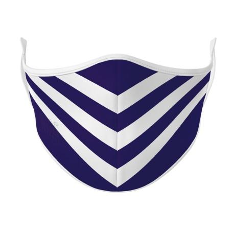 Purple & White Face Mask