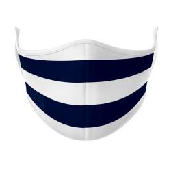 Navy & White Face Mask