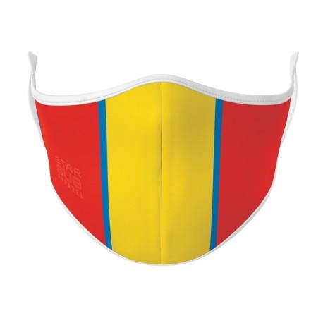 Blue, Gold & Red AFL Face Mask