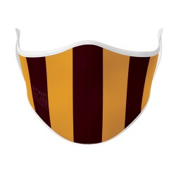 Face Mask - Brown & Gold Aussie Rules