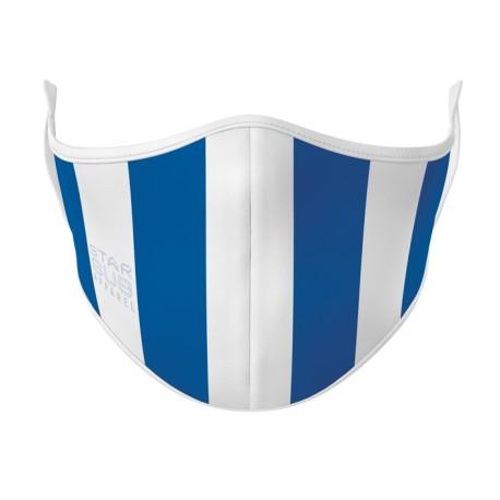 Royal Blue & White Face Mask