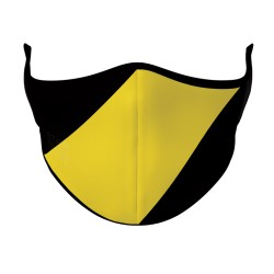 Face Mask - Black & Yellow Aussie Rules
