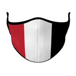 Face Mask - Red, White & Black Aussie Rules