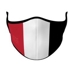 Red, White & Black Face Mask