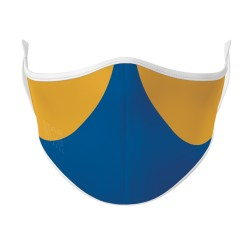 Royal Blue & Gold Face Mask