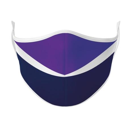 Purple, Navy & White Face Mask