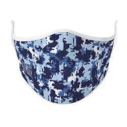 Boutique Blue Digital Camouflage Face Mask