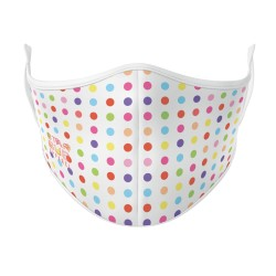 Boutique Coloured Dots Face Mask